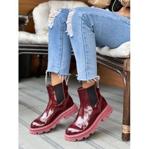 Ботинки челси женские   Alexander McQueen - арт.145657