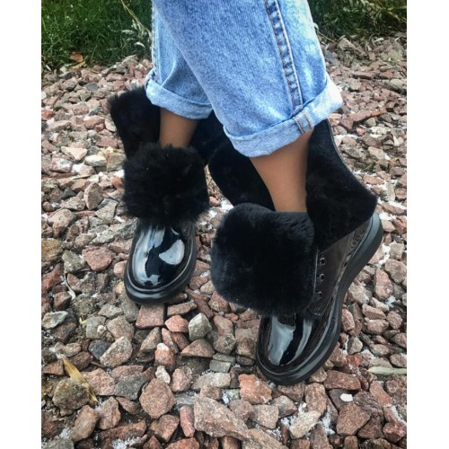 Ботинки зимние  женские   Alexander McQueen - арт.301714