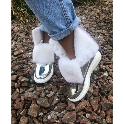 Ботинки зимние  женские   Alexander McQueen - арт.141716