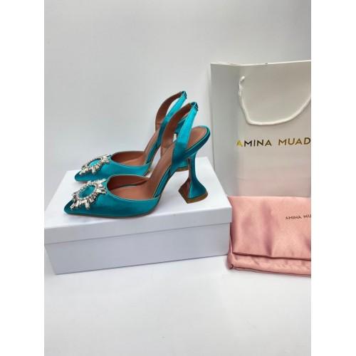 Туфли с открытой пяткой женские Amina Muaddi