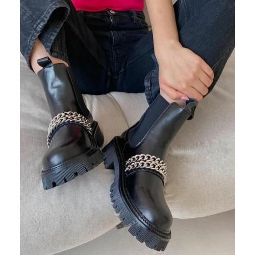 Ботинки с цепями женские Araz - арт.405189