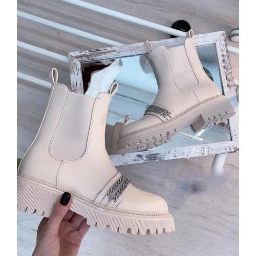 Ботинки с цепями женские Araz - арт.405190