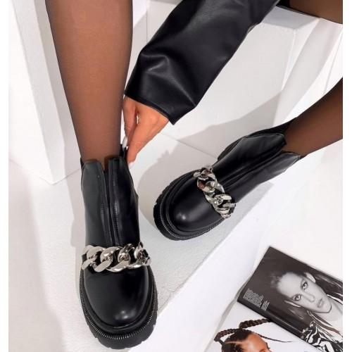 Ботинки с цепью зимние женские Araz - арт.405637