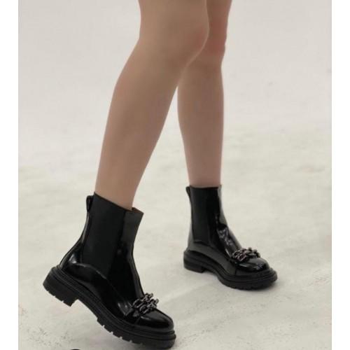 Ботинки с цепью челси женские Araz - арт.405505