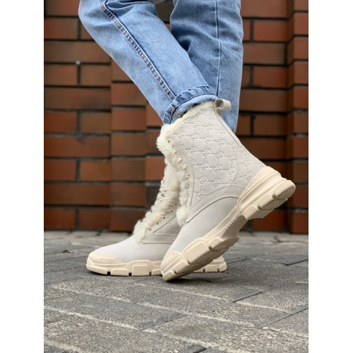 Ботинки зимние женские Gucci