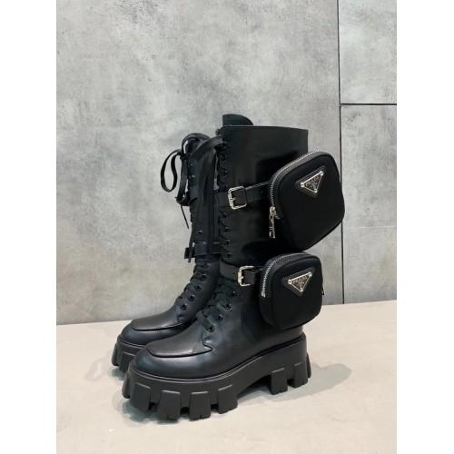 Ботинки женские Prada с карманами - арт.210670