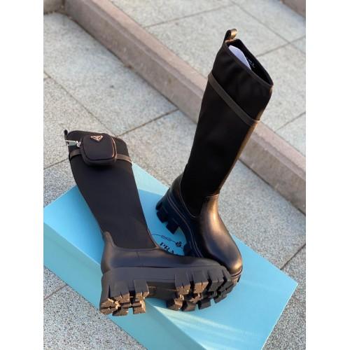 Ботинки женские Prada с карманами - арт.210669