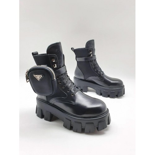 Ботинки женские Prada с карманами - арт.210726