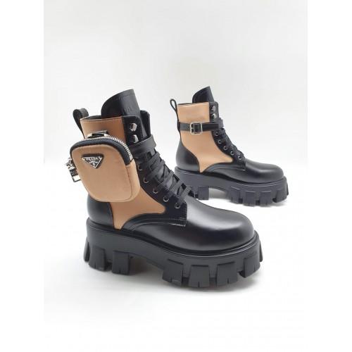 Ботинки женские Prada с карманами - арт.160642