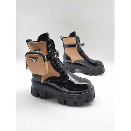 Ботинки женские Prada с карманами - арт.210643