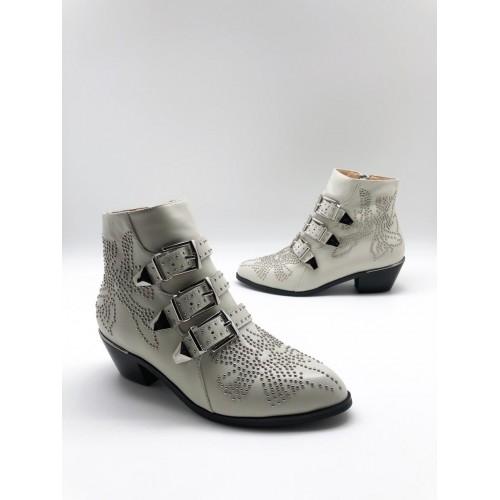 Женские ботинки казаки Chloé  - арт.480963