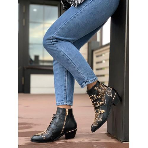 Женские ботинки казаки Chloé  - арт.480964