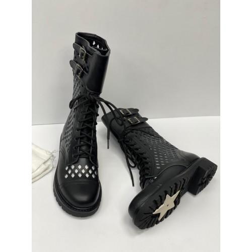 Ботинки женские с перфорацией Dior  - арт.163617