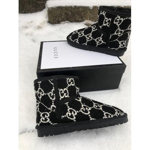 Ботинки зимние женские  Gucci - арт.202290