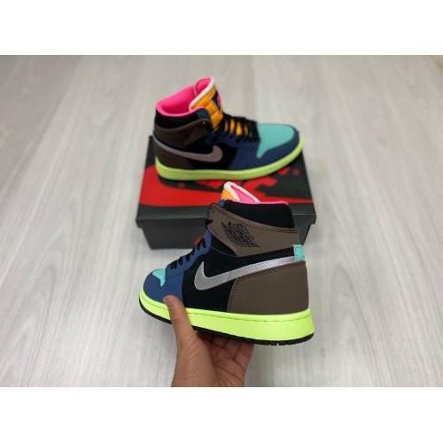Кроссовки женские  Nike  Air Jordan 1 - арт.352988