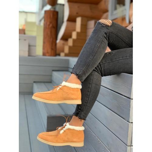 Ботинки зимние женские Loro Piana - арт.291048