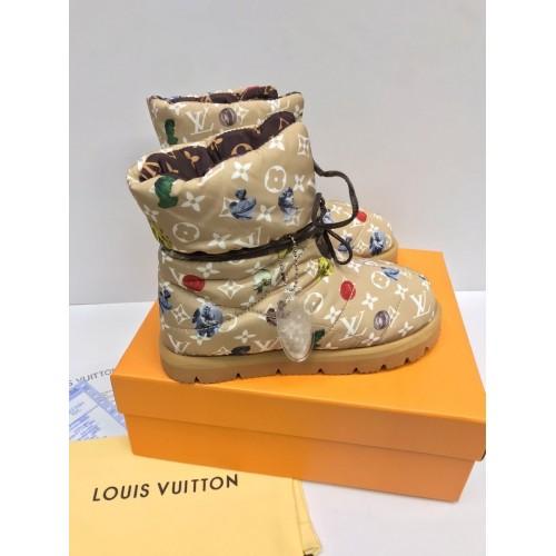 Ботинки стеганые зимние женские Louis Vuitton - арт.175690