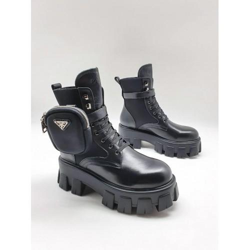 Ботинки женские Prada с карманами - арт.211223