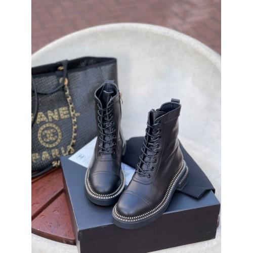 Ботинки стеганые женские Chanel - арт.155652