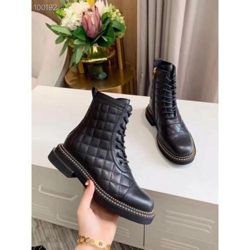 Ботинки стеганые женские Chanel - арт.155649