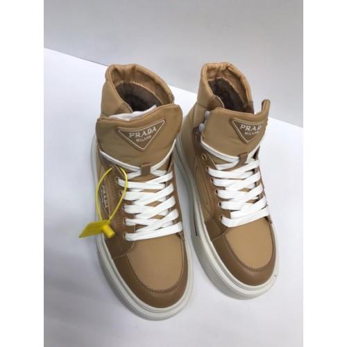Ботинки стеганые  зимние женские  Prada  - арт.215720