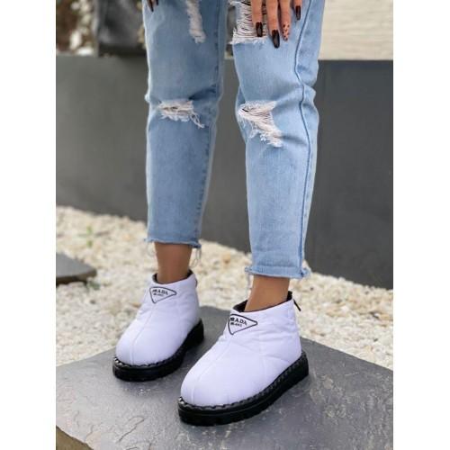 Ботинки демисезонные женские Prada  - арт.215677