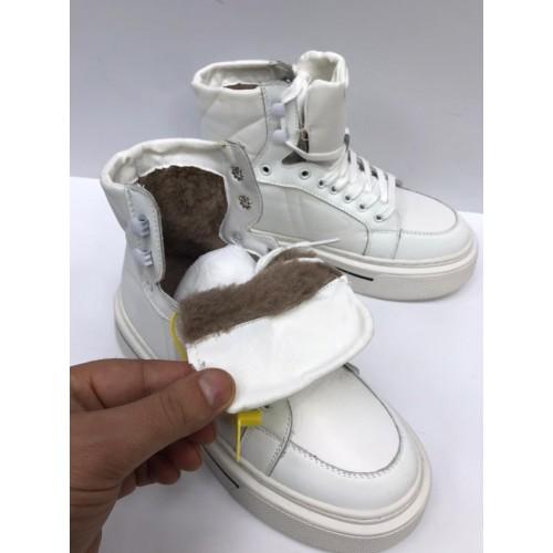 Ботинки стеганые  зимние женские  Prada  - арт.215721